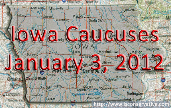 Picture of Iowa for the Caucuses on January 3, 2012