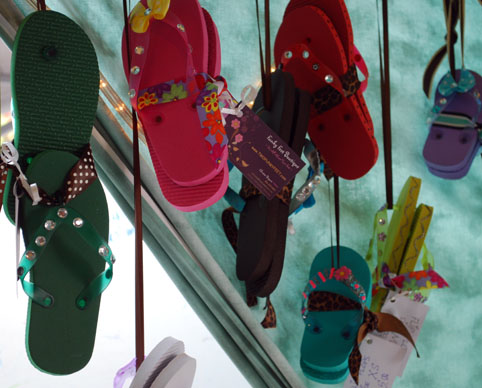 Picture of Sandals Display at FunkyFeet Boutique