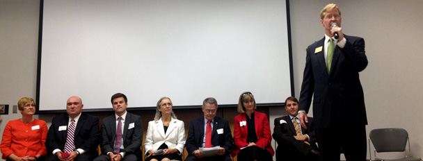 Candidates at the South Kansas City Chamber Candidate Forum