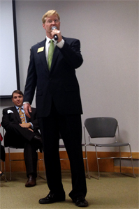 Picture of Jacob Turk at South Kansas City Chamber Candidate Forum