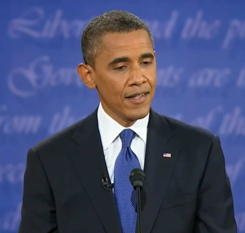 Picture of President Obama at the Debate in Denver