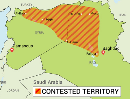 Image of Contested Territory in Iraq from FreeVectorMaps.com