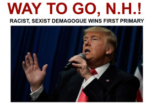 New Hampshire Primary – Arianna all up in a Huff