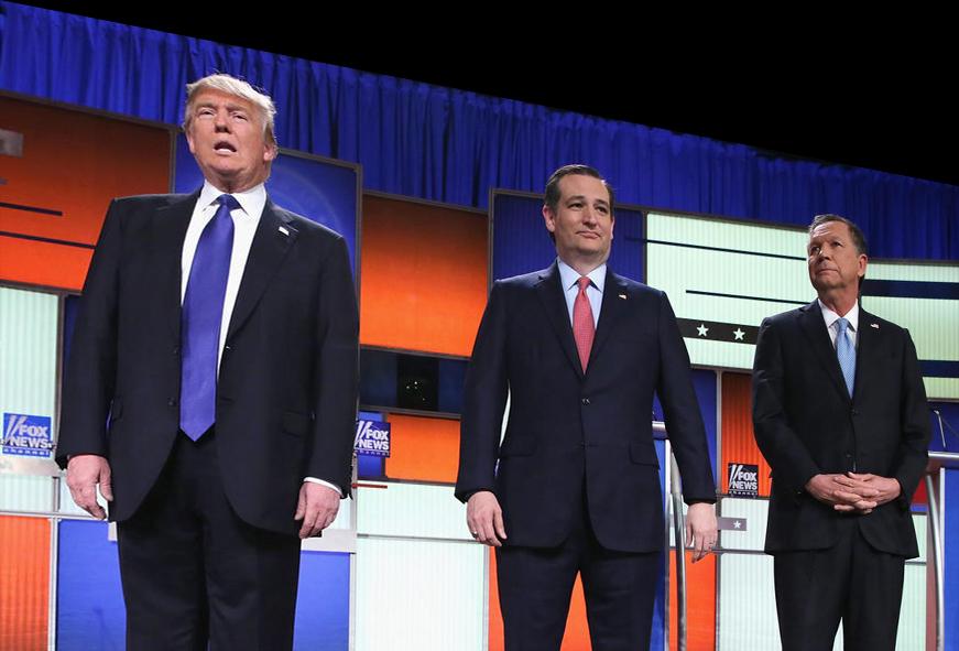 picture of Trump Cruz Kasich 2016