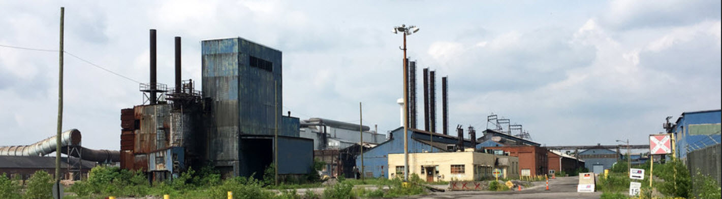 Picture of a shuttered steel plant