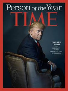 President Elect Donald J Trump – Time's Person of the Year