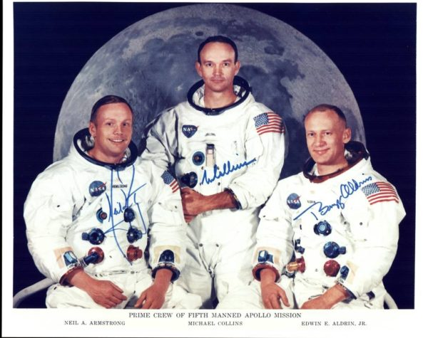Image of Neil Armstrong, Michael Collins and Buzz Aldrin