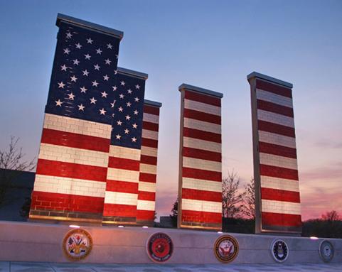 Picture of Veteran's Freedom Flag Memorial