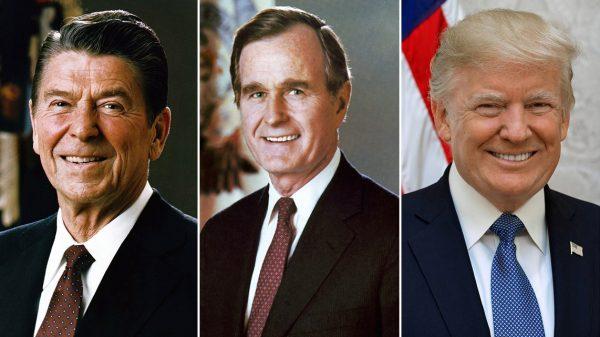 Image of Reagan, Bush and Trump